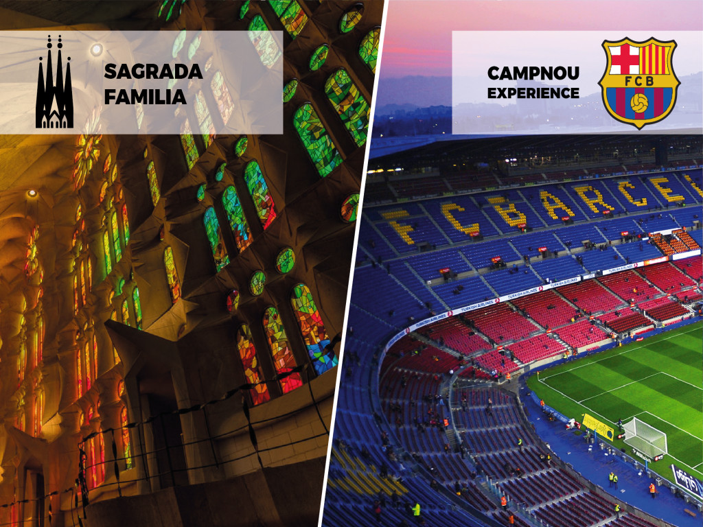 Ticket Combinado SAGRADA FAMILIA + FCB CAMP NOU TOUR