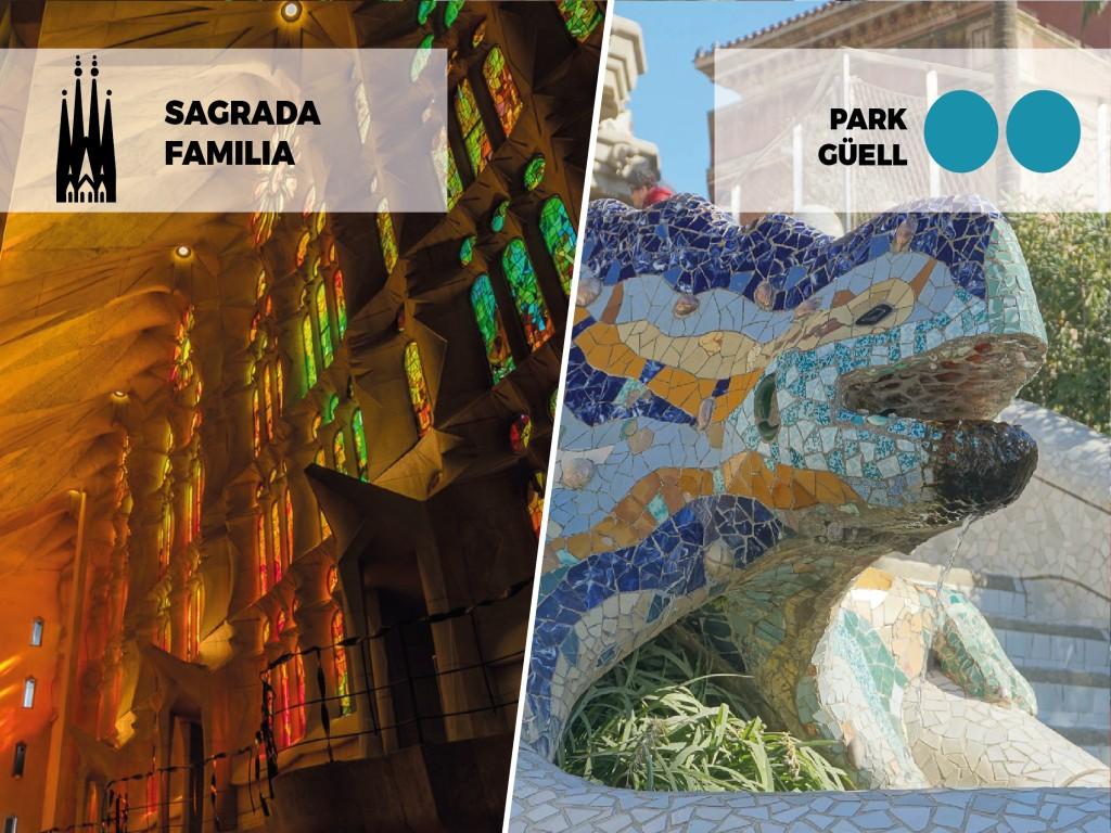 Combined Ticket: Park Güell + Sagrada Familia