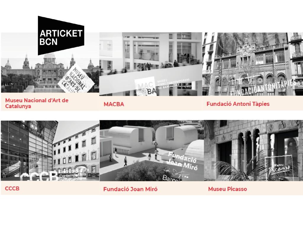 <p>Articket TIcket - Museums in Barcelona30€</p>