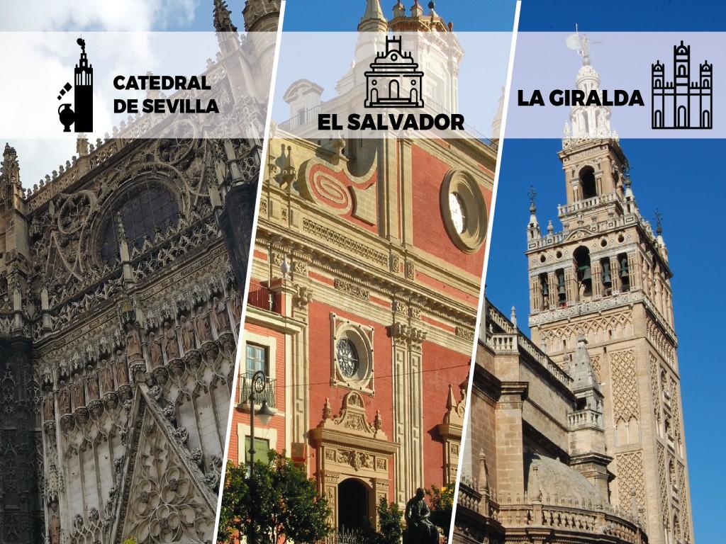 Entrada Catedral, Giralda y Salvador
