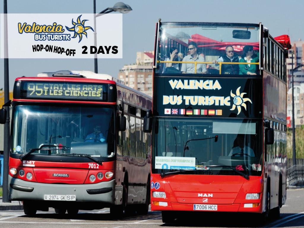VALENCIA BUS TURISTIC 2 dias seguidos 19€