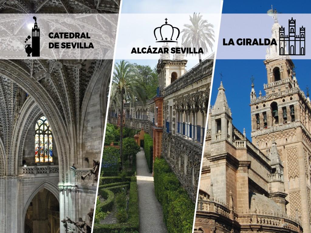 Monumental Seville: Alcázar, Cathedral & Giralda (Tour in Spanish)