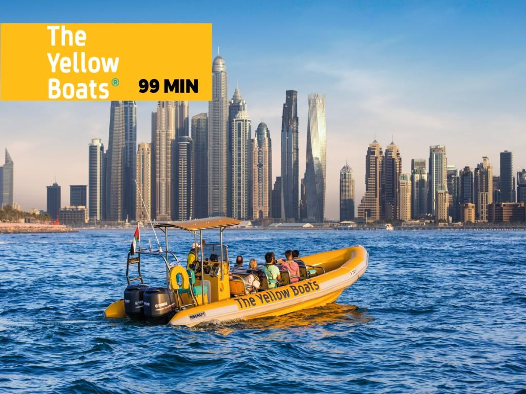 Dubai Marina, Atlantis, Burj Al Arab Speedboat Tour (99min)