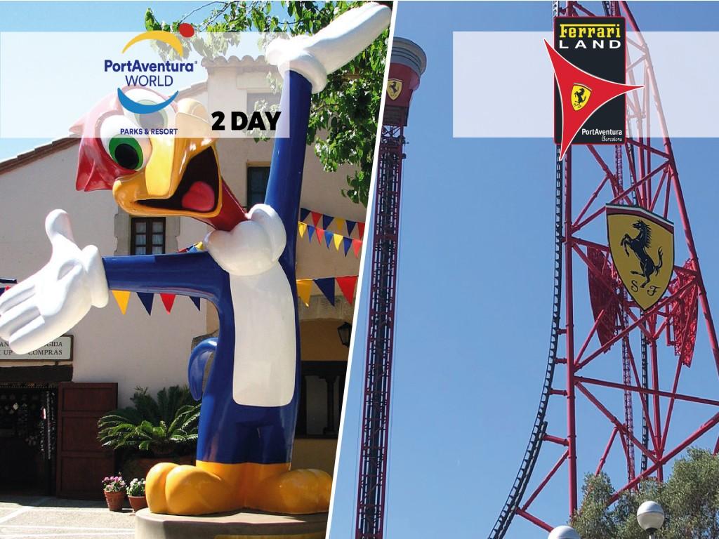 2-days ticket: Port Aventura + Ferrari